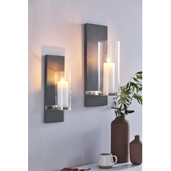 BLOMUS Wandkerzenhalter FINCA (1 Stück), Kerzen-Wandleuchter, Kerzenhalter, Kerzenleuchter hängend, Wanddeko 13 cm x 35 cm x 15 cm