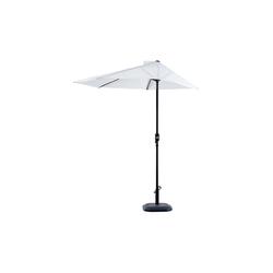 Outsunny Sonnenschirm Sonnenschirm mit Handkurbel weiß