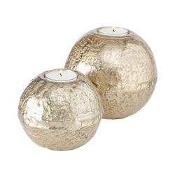 """BOLTZE Teelichthalter 2-tlg. Teelichthalter Set """"Fusine"""" H7/9cm"""