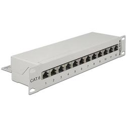 Delock 12 Port Netzwerk-Patchpanel CAT 6 1 HE
