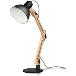 Tomons LED Schreibtischlampe LED Leselampe im Klassichen Holz-Design weiß