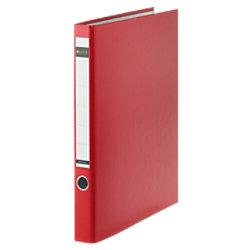 Leitz Ringbuch 2 Ringe Graupappe, laminiertes Papier DIN A4 Rot