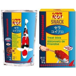 sera Bundle Koifutter - KOI Professional Frühjahr-/Herbstfutter 500g mit Koi Snack