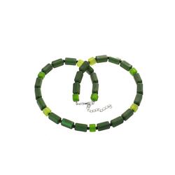 Bella Carina Perlenkette Polaris Würfel grün, Polaris Würfel und Quader