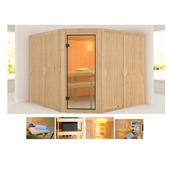KONIFERA Sauna Evka, BxTxH: 231 x 231 x 198 cm, 68 mm, ohne Ofen