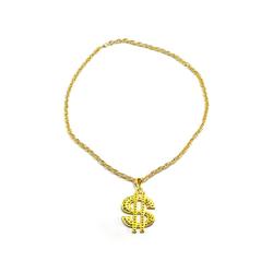 Goldene Dollar Zeichen Hals Kette Rapper Gangster Millionär Goldkette
