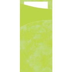 DUNI Sacchetto Serviettentaschen, Tissue, Praktische Bestecktasche, 1 Karton = 5 x 100 Stück, Farbe: lime