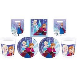 Disney Frozen Einweggeschirr-Set Disney´s Die Eiskönigin - Partyset, 64-teilig
