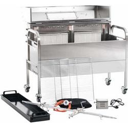 CLP Spanferkel-Grill Matthew Mit Motor Und Temperaturanzeige   Holzkohlegrill Aus Edelstahl Mit 2 Grillrosten   Gasgrill