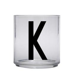 Design letters personalisiertes Trinkglas für Kinder Buchstabe K