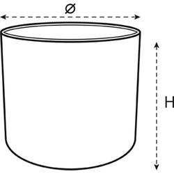 Elho Übertopf b.for soft Blumentopf rund div.Farben & Größen weiß Ø 25 cm