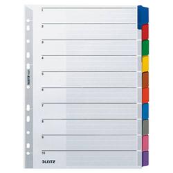 Leitz 4321 Register DIN A4 blanko Karton Grau 10 Registerblätter 43210000