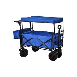 Durhand Bollerwagen Bollerwagen faltbar blau