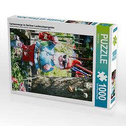 Gartenzwerge im Berliner Laubenpiepergarten Lege-Größe 48 x 64 cm Foto-Puzzle Bild von Gisela Kruse Puzzle