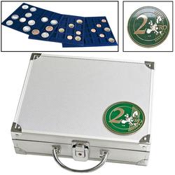 Alu-Münzkoffer für 2-Euro-Münzen