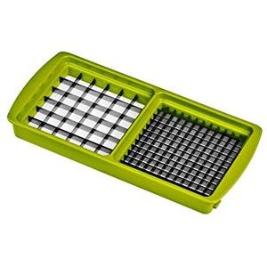 Unbekannt Neu Ersatzteile für Genius - Nicer Dicer Plus: Grund-Deckel - Hobeleinsatz - Messereinsätze - Sparschäler - Behälter - Deckel (6mm x 6mm und 12mm x 12mm, Kiwigrün)