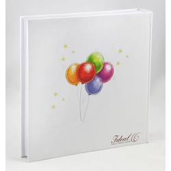 IDEAL TREND Album Teddy Ballon Fotoalbum 30x30 cm 100 weiße Seiten Baby Foto Album Fotobuch