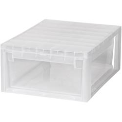 KREHER Aufbewahrungsbox 12 Liter, mit Schublade weiß