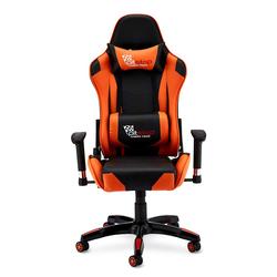 Ergonomischer Bürostuhl in Schwarz und Orange Lendenwirbelstütze
