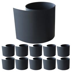 Mucola Sichtschutzstreifen 10 Stück Hart PVC Sichtschutzstreifen für Doppelstabmattenzaun Sichtschutz Zaunblende Windschutz grau