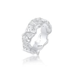 Elli Fingerring Ginkgo Blätter Trend Cool Glück 925 Silber, Ginkgo 58