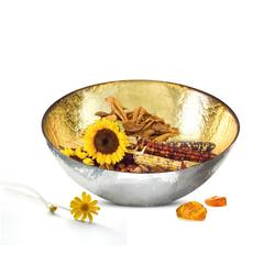 Sendez Schale Schale in Gold und Silber Schüssel Dekoschale Salatschüssel Salatschale 3L