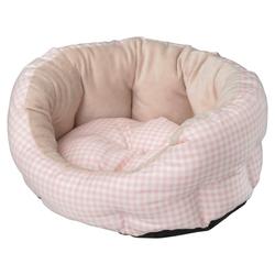 D&D Hundebett Softbed Checko rosa
