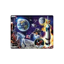 Larsen Puzzle Rahmen-Puzzle, 50 Teile, 36x28 cm, Apollo 11, Puzzleteile
