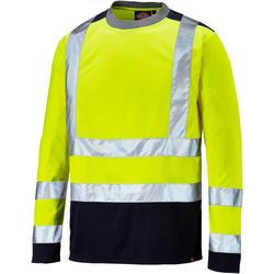 Dickies T-Shirt Hi-Vis Langarm hochsichtbare Warnschutzkleidung gelb L