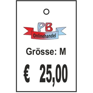 Karton-Etiketten 35x53mm mit Wunschaufdruck RECHTECKIG