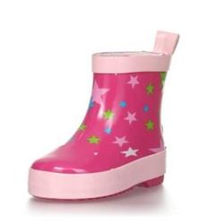 Playshoes Gummistiefel Halbschaft Sterne pink