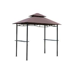 Outsunny Grillpavillon Grillpavillon mit Doppeldach