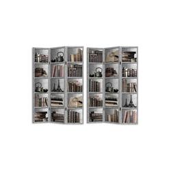 HTI-Line Paravent Paravent Bücherregal (1 Stück), Nur für den Innenbereich geeignet