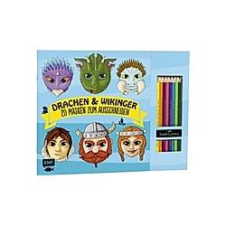 Drachen & Wikinger - 20 Masken zum Ausmalen und Ausschneiden - Buch