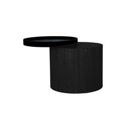 mokebo Couchtisch Der Stämmige, auch als Beistelltisch im skandinavischen Design schwarz 48 cm x 44 cm x 48 cm
