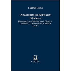 Die Schriften der Römischen Feldmesser als Buch von
