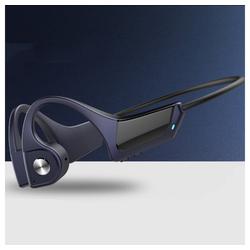 TOPMELON Bluetooth-Kopfhörer mit Knochenleitung Sport-Kopfhörer (Bluetooth) blau