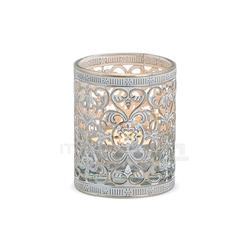 matches21 HOME & HOBBY Kerzenständer Windlicht Teelichtglas Orientalisches Muster 7 cm