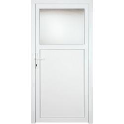 KM Zaun Nebeneingangstür K601P, BxH: 98x198 cm, weiß, links