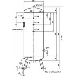 DB VZ 90/11 V - Druckluftbehälter