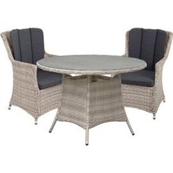 5tlg. Alu Tischgruppe Garten Sitzgruppe Lounge Set Gartenmöbel Sitzgarnitur