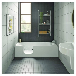 HAK Badewanne CASCADE, Badewanne mit Tür, 169,5x70 cm, links