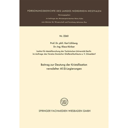 Beitrag zur Deutung der Kristallisation veredelter Al-Si-Legierungen: eBook von Karl Löhberg