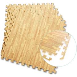 COSTWAY Bodenschutzmatte Schutzmatte, 12 Stück, Bodenschutzmatte je 60x60x1cm Puzzlematte aus Eva
