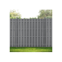 neu.holz Gartenzaun, Siero Lamellenzaun WPC Sichtschutz 180x180cm Grau grau