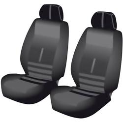 Unitec 84956 Twin Sitzbezug 6teilig Polyester Schwarz Fahrersitz, Beifahrersitz