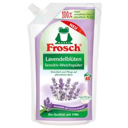 Frosch Sensitiv-Weichspüler, 1000 ml - Beutel, Textilerfrischer auf pflanzlicher Basis, Lavendelblüten