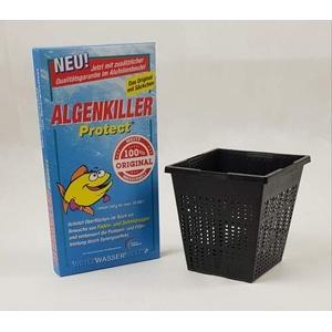Weitz-Wasserwelt Algenkiller Protect DAS Original im Kombi Sparset 4 (Pflanzkörbchen)