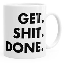 MoonWorks Tasse Kaffee-Tasse mit Spruch Get Shit Done MoonWorks®