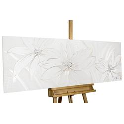 KUNSTLOFT Gemälde Frozen Flowers, handgemaltes Bild auf Leinwand